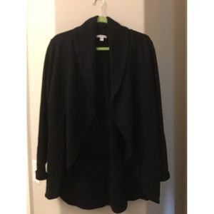 James Perse French Terry Draped Blazer